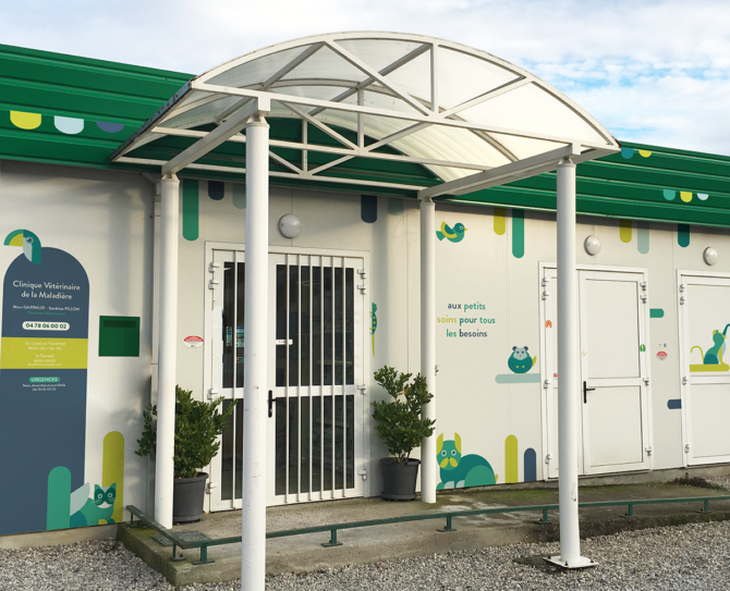 clinique veterinaire signaletique